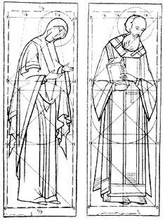 cartoon  of male female full saint