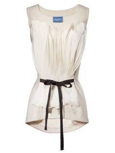 Just about the neatest, most modern take on ruffles and bows we've seen. Simply Vera Vera Wang top, $44; kohls.com.