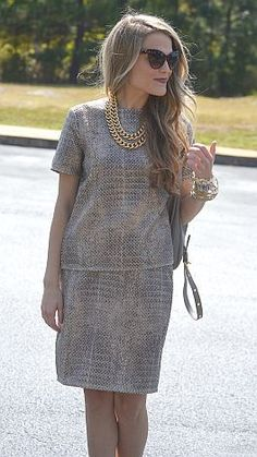 Stay golden with this chic matching outfit! $49 at shopbluedoor.com
