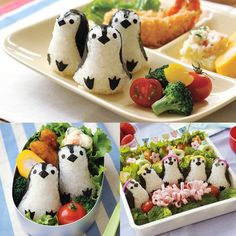 [Chara valve / lunch / ideas Goods / excursion / rice ball type / nori punch / easy] Ernest baby penguin onigiri 76,204 [D] [a-ne]