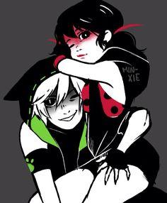 Chat noir and ladybug breakdance AU