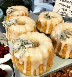 Rosemary and orange cakes... #ottolenghinottinghill