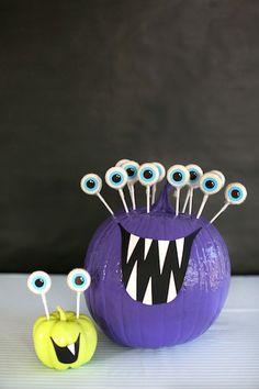 Friendly Monsters Centerpiece. Fun kid craft.