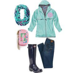 Rainy school day, created by preppyperalgal on Polyvore