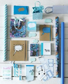 Various blue stationary goodness.
