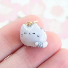 Hello! Heres a little pusheen I sold a while ago! I did a live last night where I made 9 pastel pusheens for my shop and it took FOREVER. They're still not finished and I've probably worked on them for at least 2 hours now. I have to still do the hearts and the faces. I haven't even started my other shop charms! Anyways... I hope everybody has a great day!