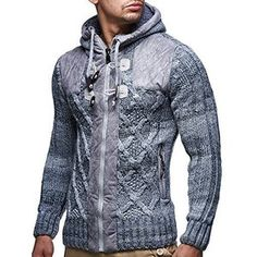 LEIF NELSON cardigan Chaqueta hombres tejer suŽter LN20225 Chaqueta