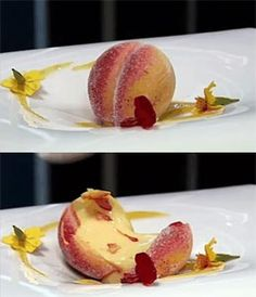 Isomalt Apricot filled with apricot foam