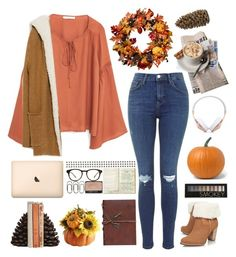 """""""Happy Thanksgiving! """" by genesis129 ❤ liked on Polyvore featuring MANGO, UGG Australia, Zara, Dot & Bo, Madewell, Retrò, Crate and Barrel, Frends and Forever 21"""