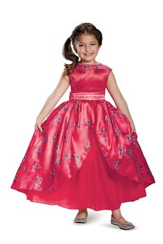 Your daughter will delight in wearing the beautiful Disney Elena of Avalor Ball Gown Deluxe Child Costume. Whether it's for trick or treat or to play dress up your Elena costume is sure to steal the show. Little Girl Costumes, Toddler Costumes, Halloween Costumes For Kids, Toddler Halloween, Funny Halloween, Halloween Stuff, Elena Disney, Elena Costume, Elena Of Avalor Dress
