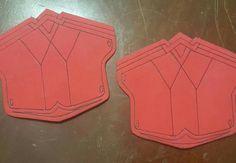 Craft foam base for Wonder Woman bracelets/bracers