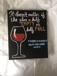 Wine quote canvas