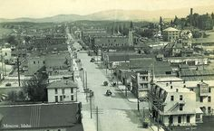 Moscow, Idaho, a long time ago