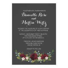 Greenery Wedding Invitations Rustic Winter Wedding Invite