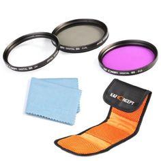 K&F Concept 77mm Slim 5 teiliges Kamera Zubehör Set Objektiv Filterset UV Schutzfilter CPL FLD Filter Set für Canon 6D 5D Mark II 5D Mark III for Nikon D610 D700 D800 DSLR Kamera + Filtertasche + Reinigungstuch für Objektive - http://kameras-kaufen.de/k-f-concept/77mm-k-f-concept-5-teiliges-55mm-kamera-filter-slim