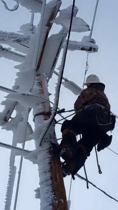Moments frozen in time tell the tale of adventure, danger, and hard work faced. Take a look at linemen images from past to present. Lineman Love, Power Lineman, Electrical Lineman, Electrical Safety, Great Photos, Cool Pictures, Journeyman Lineman, Transmission Line, Frozen In Time