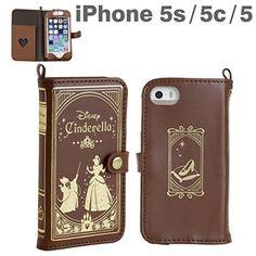 New Hamee Cinderella Disney Princess IPhone5s 5c 5 Leather Type Case With Strap #HameeSutorappuya