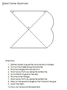 DIY Heart Corner Bookmark http://www.booksandmarks.com