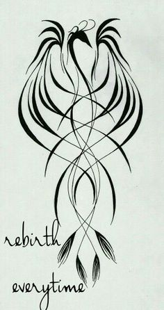 Tribal Tattoos 77213 PhoeniX tattoo by EpHyGeNiA on DeviantArt Phoenix Tattoo Feminine, Tribal Phoenix Tattoo, Small Phoenix Tattoos, Phoenix Tattoo Design, Small Tattoos, Phoenix Back Tattoo, Rising Phoenix Tattoo, Delicate Feminine Tattoos, Watercolor Phoenix Tattoo