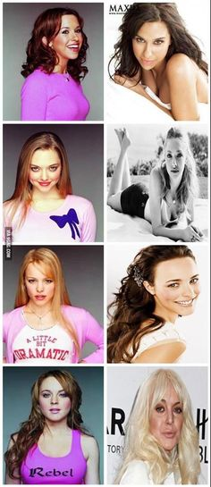 Mean Girls then and now. I keep raggin on Lindsay Lohan... But look at her..