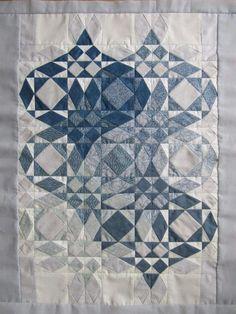 Storm at Sea Quilt Pattern - Wedding / Heart / Love quilt - Quilting Designs, Quilting Projects, Quilt Design, Quilting Ideas, Embroidery Designs, Quilt Block Patterns, Quilt Blocks, Quilt Kits, Storm At Sea Quilt