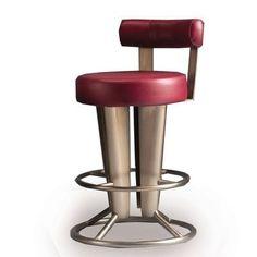 """Createch Saturne 30"""" Swivel Bar Stool Upholstery: Impulse 4003, Metal Finish: Aluminium"""