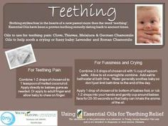 For teething baby, try these Young Living Essential Oils     ORDER HERE: www.heavenscentoils4u.com YL# 1434972   Debbie Norris