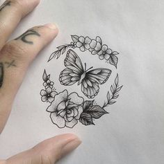 With a skull instead of a butterfly