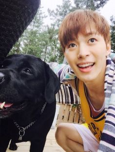 Hongbin and dog. What more do you need?