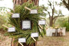 Escort Card Rosemary Wreath
