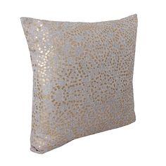Silver Anu Foil Dot Pillow