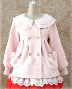 Lolita Babydoll Style Winter Coat 10 Colors $64.99-Lolita Jackets - My Lolita Dress