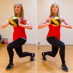 Diagonal Lunge with Med ball. Substitute KB in each hand for the NFL Shoot.