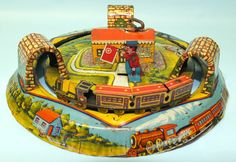 1927 Marx tin Honeymoon Express wind up toy train Vintage Toys, Vintage Games, Antique Toys, Metal Toys, Tin Toys, Toys For Us, Toy R, Displaying Collections, Toys Shop