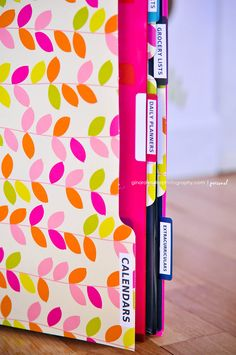 Family Organizer Binder