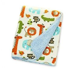 Humbee Baby Blanket in Gorgeous Jungle Blue Double Layered Fleece for Extra Comfort Perfect for Swaddling and Strolling