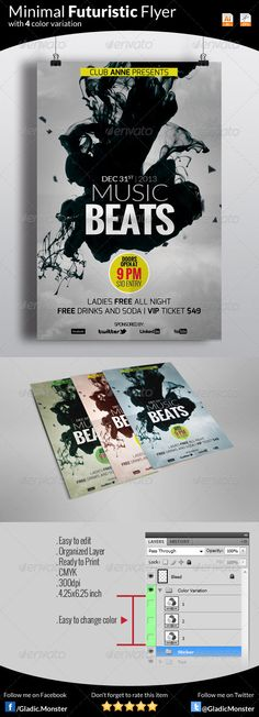 DOWNLOAD THIS Minimal Futuristic Flyer FROM - http://graphicriver.net/item/minimal-futuristic-flyer/6387745?ref=GladicMonster