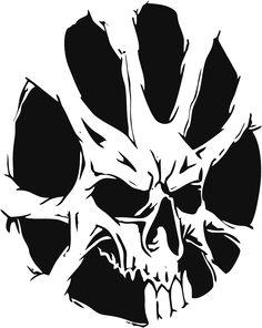 Skull Stencil, Stencil Art, Stencils, Tattoo Drawings, Art Drawings, Drawing Tutorials For Beginners, Skull Pictures, Skull Artwork, Tattoo Ideas