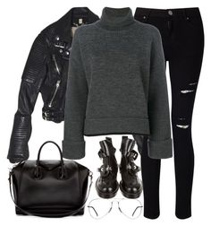 """""""Untitled #3138"""" by elenaday ❤ liked on Polyvore featuring Burberry, Miss Selfridge, Dsquared2, Givenchy, Balenciaga and Ray-Ban"""