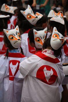 Fox Festival in Okaya, Nagano Prefecture Japan