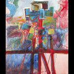 Maurizio Gerini, Paesaggio - 2007 - olio acquerellato su tela - cm 120x100