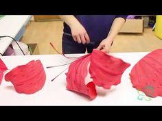 (76) Большой цветок из фоамирана - YouTube