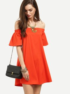 Shop Red Ruffle Off The Shoulder Shift Dress online. SheIn offers Red Ruffle Off The Shoulder Shift Dress & more to fit your fashionable needs.