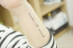 Make it count tattoo on the left forearm. Tattoo...