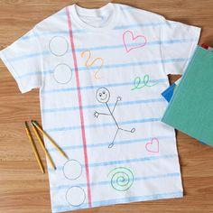 DIY Classroom Doodles T-shirt cute!!