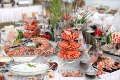 Some ideas for the seafood buffet.