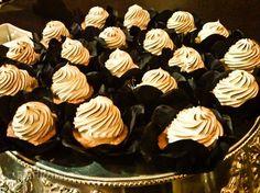Charred meringue swirls