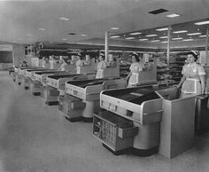Inside look at the Taylor Ave Piggly Wiggly at 1950 Taylor Ave Racine WI, 1955..