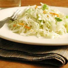 Cool and crisp: a choice complement to the Slow Cooker Red Beans and Rice. Try varying the slaw by adding slices of Granny Smith or Pink Lady apples to give it a slightly sweet and sour flavor and a crunchy bite.