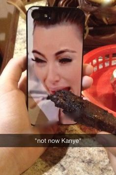 Not Now Kanye - Funny Bone - Kim Kardashian Eats Delicious Spare Ribs ---- hilarious jokes funny pictures walmart humor fails